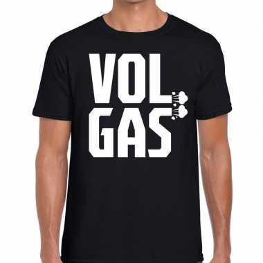 Festival shirt zwarte cross vol gas zwart heren