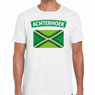 Festival shirt zwarte cross wit heren