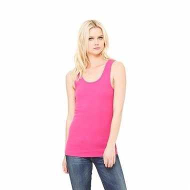 Fuchsia dames shirt zonder mouwen