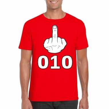 Fuck 010 t shirt rood heren