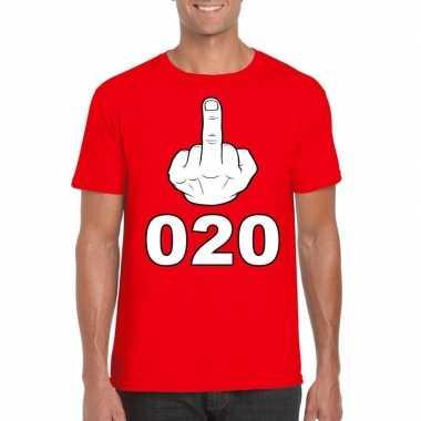 Fuck 020 t shirt rood heren