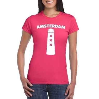 Gay pride amsterdammertje shirt roze dames