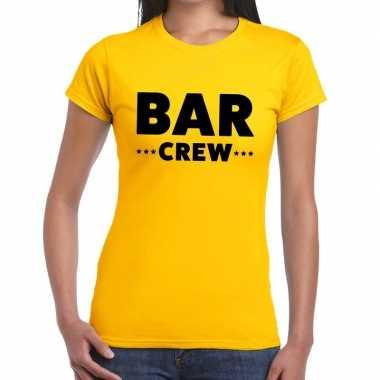 Geel bar crew shirt dames