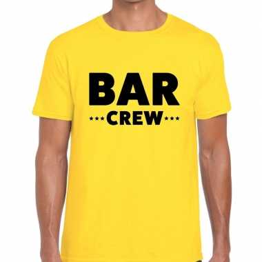 Geel bar crew shirt heren