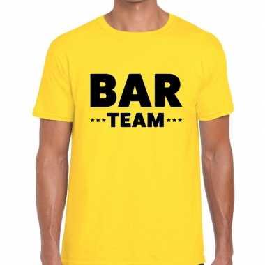 Geel bar team shirt heren
