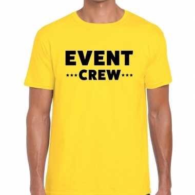 Geel event crew shirt heren