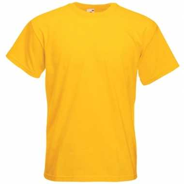 Gele t shirts korte mouwen heren