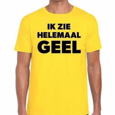 Gele tekst shirts heren