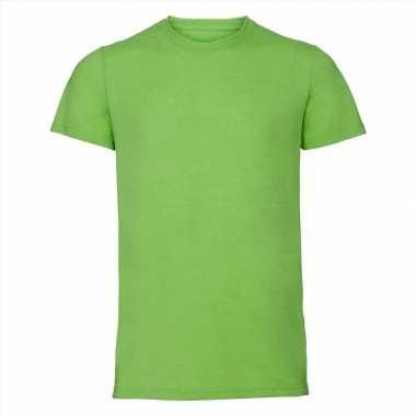 Getailleerde heren t-shirt ronde hals lime groen