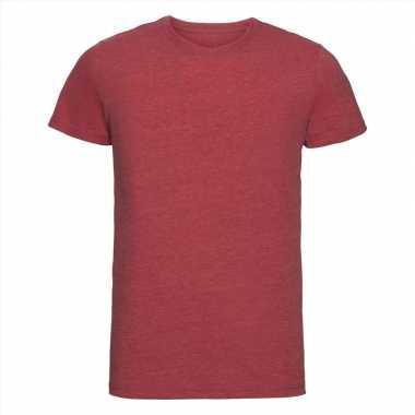 Getailleerde heren t-shirt ronde hals rood
