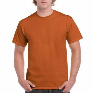 Goedkope gekleurde shirts bruin donkeroranje volwassenen