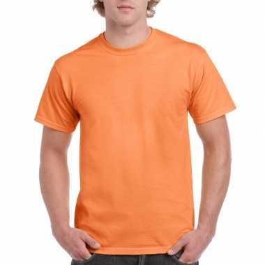 Goedkope gekleurde shirts licht tangerineoranje volwassenen