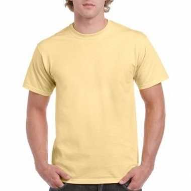 Goedkope gekleurde shirts licht vegasgoudgeel volwassenen