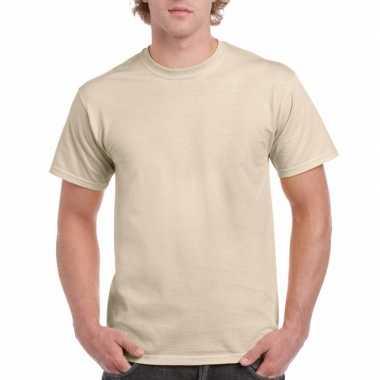 Goedkope gekleurde shirts zandkleur volwassenen