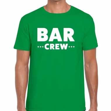 Groen bar crew shirt heren