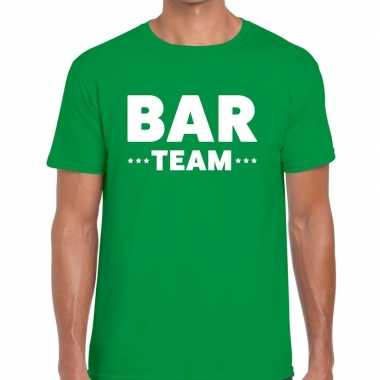 Groen bar team shirt heren