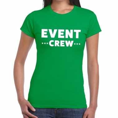 Groen evenement shirt event crew bedrukking dames