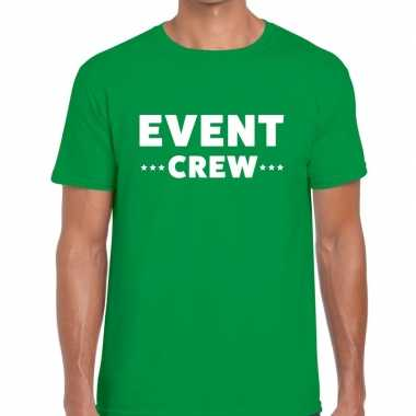 Groen event crew shirt heren
