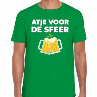 Groen feest shirt atje sfeer bedrukking