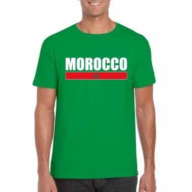 Groen marokko supporter t shirt heren