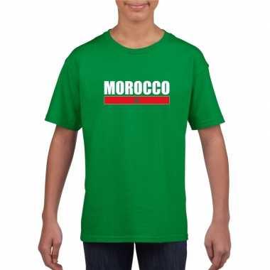 Groen marokko supporter t shirt kinderen