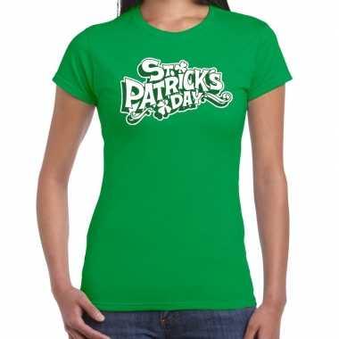 Groen st. patricks day t shirt dames