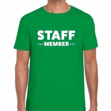 Groen staff member shirt heren