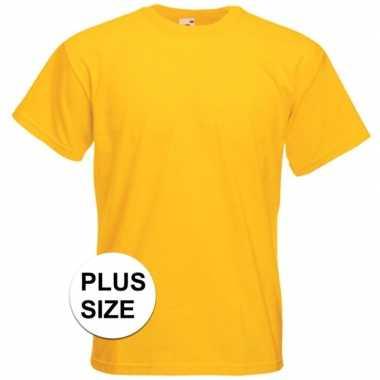Grote maten gele t shirts korte mouwen heren