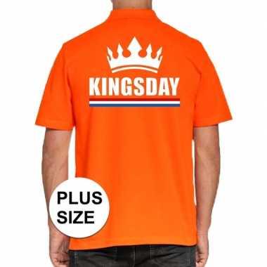 Grote maten koningsdag poloshirt kingsday oranje heren