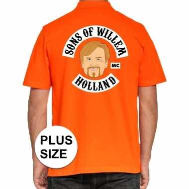 Grote maten koningsdag poloshirt sons of willem oranje heren