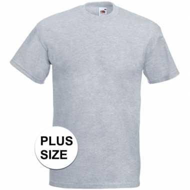 Grote maten licht grijze t shirts korte mouwen heren