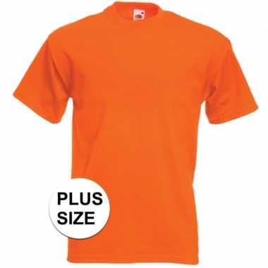 Grote maten oranje t shirts korte mouwen heren