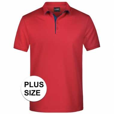 Grote maten polo t shirt high quality rood heren