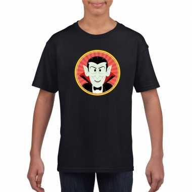 Halloween vampier/dracula t shirt zwart kinderen