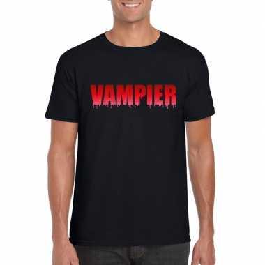 Halloween vampier tekst t shirt zwart heren