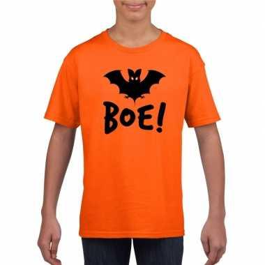 Halloween vleermuis t shirt oranje kinderen