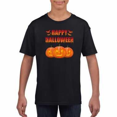 Happy halloween t shirt zwart kinderen