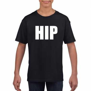 Hip tekst t shirt zwart kinderen