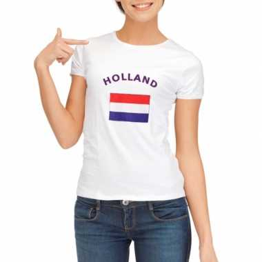 Holland vlaggen t-shirt dames