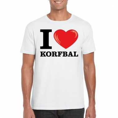 I love korfbal t shirt wit heren