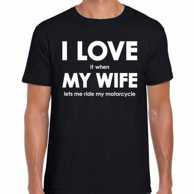 I love my wife shirts zwart heren