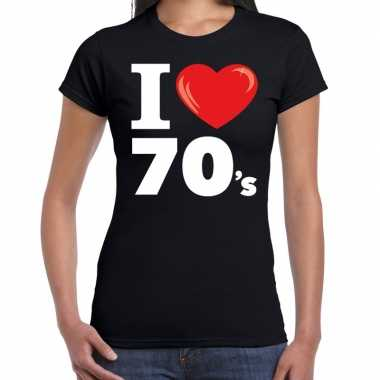 I love shirts dames zwart 70s bedrukking