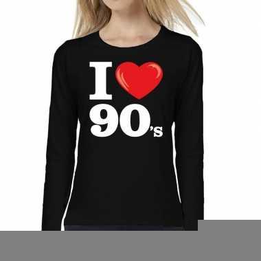 I love shirts dames zwart 90s bedrukking 10162147