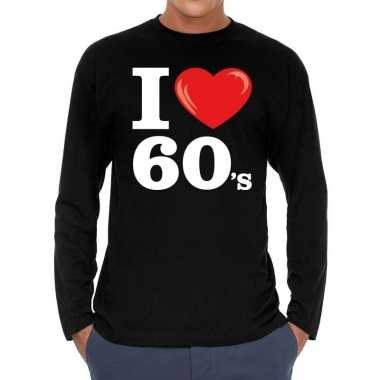 I love shirts heren zwart 60s bedrukking