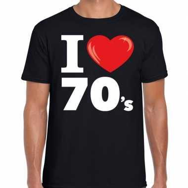 I love shirts heren zwart 70s bedrukking