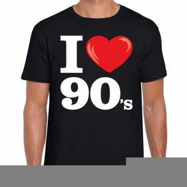 I love shirts heren zwart 90s bedrukking