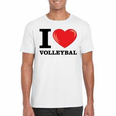 I love volleybal t shirt wit heren