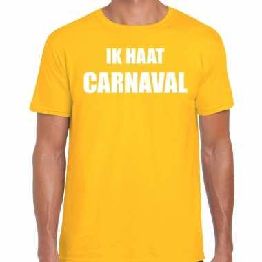 Ik haat carnaval verkleed t shirt / outfit geel heren
