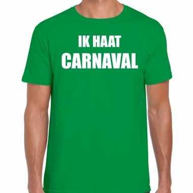 Ik haat carnaval verkleed t shirt / outfit groen heren