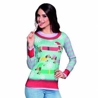 Kerstopdruk damesshirt
